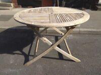 Teak, folding garden table. John lewis