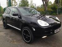 2005 Porsche Cayenne 3.2 V6 Tiptronic Automatic S AWD Black Full Service History Hpi Clear 2 x keys