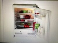 integrated Blomberg refrigerator, less than 1 year old