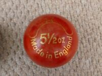 Gray-Nicholls Cricket Ball. New. Five and a half oz. match ball.