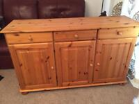 Pine sideboard solid 3 draws over 3 cupboard