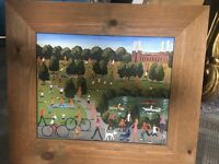 Painting of Battersea Park and Power Station