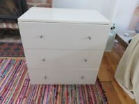 ***two CHEST OF DRAWERS (large & small) and BOOK SHELF***