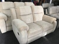 New/Ex Display Sadera LazyBoy 3 + 2 Seater Recliner Sofas (high backs and neck support)