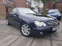 2005 Mercedes Benz CLK 240 convertible dark blue - leather sat nav hpi clear MOT sl500 sl55 amg