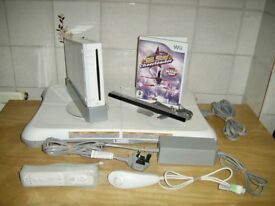 Wii Console with Fit Board & Cheerleader Game