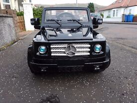 Mercedes g55 amg (g wagon) 12v kids ride on car with parental control. very good condition £100 ono
