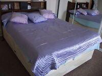 Single Satin Lilac Bedspread
