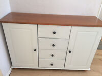 Pine/cream unit...sideboard, pre-loved upcycled unit, excellent condition.