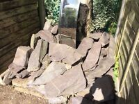 Approx 30 large slate rocks for garden. Buyer to collect
