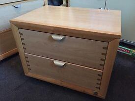 Bedside 2 draw wooden unit