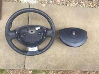 Clio 172/182 steering wheel with airbag
