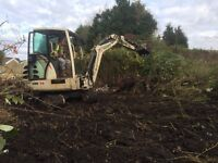 Mini digger and driver/operator Swansea,Neath and llanelli