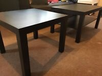 Ikea Lack coffee table and side table (black)
