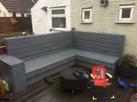 Decking corner sofa / bench