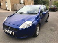06 plate- fiat punto grande - one year mot - 2 former keepers - warranted miles