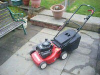 MOUNTFIELD PETROL PUSH LAWNMOWER GRASS COLLECTOR £70 ,