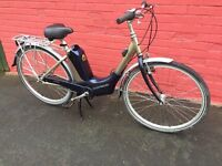 New Electric Bicycle, 11.6ah Samsung battery pack, Mid drive motor 4 speed nexia gears