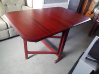 COMPACT DOUBLE DROP LEAF TABLE - GOOD HEAVY QUALITY