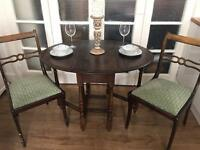 VINTAGE ANTIQUE TABLE +2CHAIRS FREE DELIVERY LDN🇬🇧