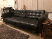 Ikea Karlsfors 3 seater leather sofa