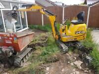man and digger hire