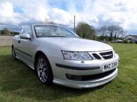 2005 SAAB 93 AREO CONVERTIBLE..210 BHP....MOTED TO OCTOBER..POSSIBLE PART EXCHANGE