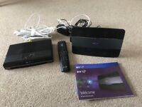 BT tv box and fibre optic router