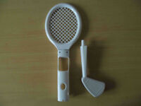 Tennis Racket and Golf s for Nintendo Wii