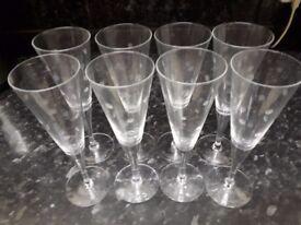 set of 8 patterned wine glasses