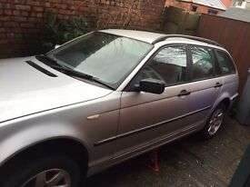 BMW e46 spares or repairs cat D needs new rad - I have the rad - whole car 320d touring estate parts