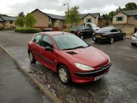 Peugeot 206, 1.1, New Exaust, Spark plugs, Brake pads, Cheap to run& insure, PERFECT AS FIRST CAR