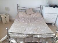 Lovely chrome bed frame