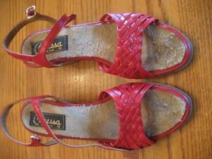 Size 6 1/2 Red Sandals