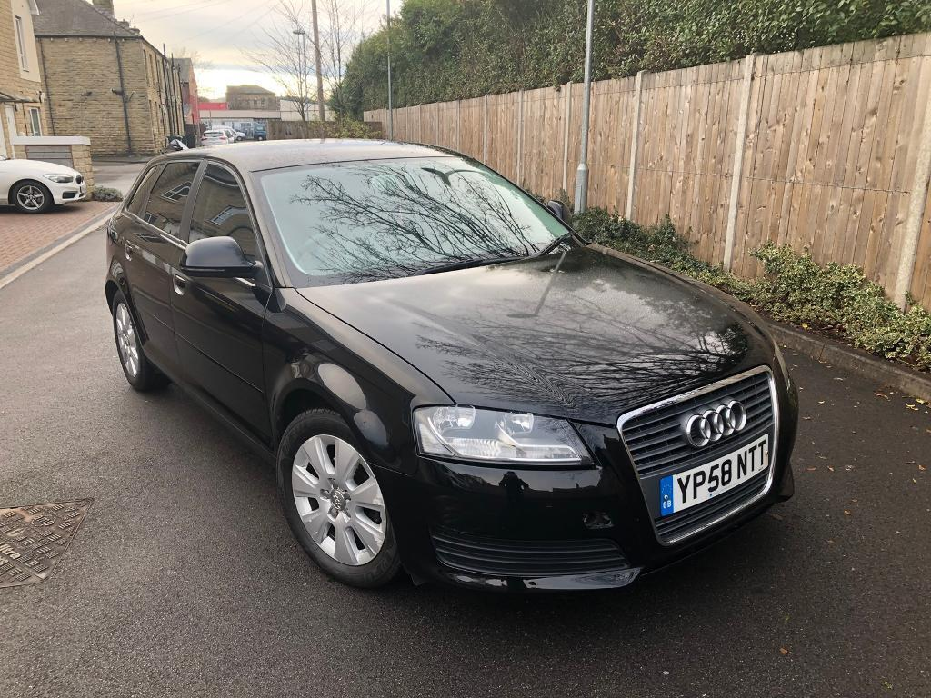 2009 AUDI A3 1.9 TDI SE MANUAL 5 DOOR SPORTBACK BLACK NEW