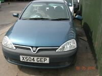 !!! BREAKING FOR PARTS ONLY !!! Vauxhall corsa Elegance 16 v 1400cc 2001 X Reg