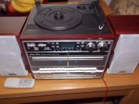 Turntable Cd Player & Radio, Convert LP`s to USB / SD also Double cassette Deck Model TCD990