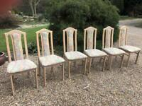 Set of six lovely top quality dining chairs