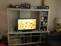 Ikea tv unit with shelves and storage
