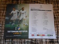 Spurs v Apoel Champions Lge Football programme, 6th Dec 2017