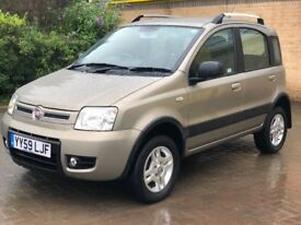 2009/59 4X4 Fiat Panda 1.2 Petrol 60bhp 5 Door, 1 OWNER, Full Fiat History, 12 mths MOT & HPI clear