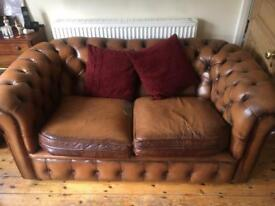 Beautiful brown leather sofa for sale