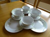Green leaf pattern Plates & Bowls