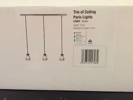 Brand new Paris ceiling light -Garden Trading