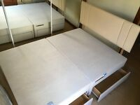 Double bed Divan with drawers and Headboard