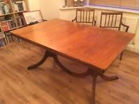 5' Dining Table and Six Chairs