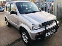 DAIHATSU TERIOS AUTOMATIC 1.3 LIMITED EDITION PETROL LOW MILEAGE 80K 4x4 AIRCON 5 DOORS