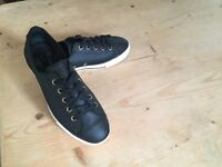 Converse All Star High Line Ox Trainers Black Leather