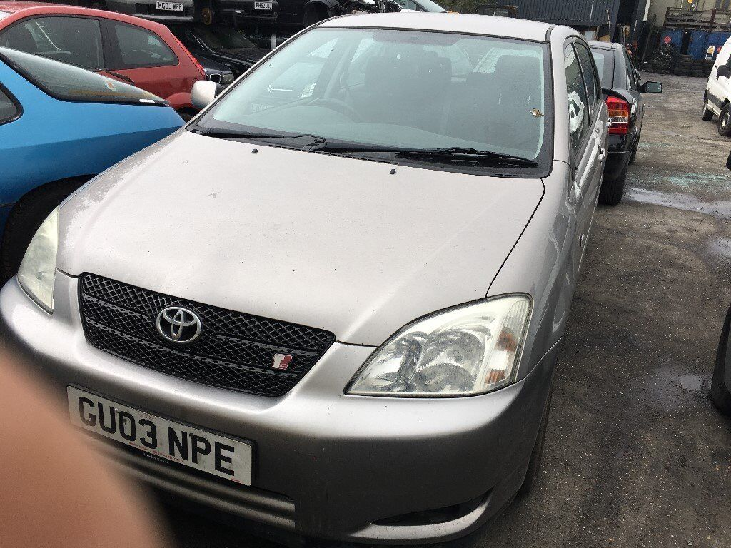 2003 TOYOTA COROLLA T SPORT VVTL-I (MANUAL PETROL)- FOR PARTS ONLY