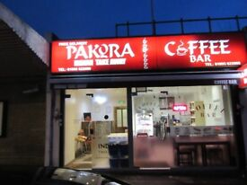 indian takeaway and coffee shop for sale.